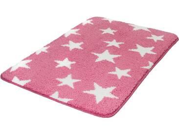MEUSCH Badematte »Stars« , Höhe 15 mm, rutschhemmend beschichtet, fußbodenheizungsgeeignet, rot, 15 mm, cassis
