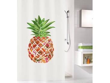 Kleine Wolke KLEINE WOLKE Duschvorhang »Pineapple«, Breite 180 cm, weiß, bunt/grün/weiß