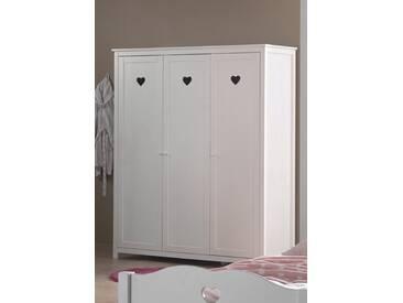 Vipack Furniture Kleiderschrank »Amori«, weiß, Breite 159 cm, 3-trg., weiß