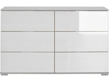 Wimex Schubkastenkommode »Easy«, mit Glas- oder Spiegelfront, weiß, weiß/Weißglas