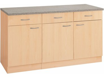 wiho Küchen WIHO-Küchen Unterschrank »Kiel« 150/60/85 cm, braun, Buchefarben
