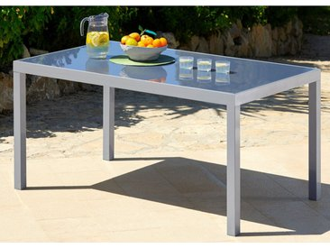 MERXX Gartentisch »Taviano«, Aluminium, 150x90 cm, silber, silberfarben, 150 cm x 90 cm, silberfarben