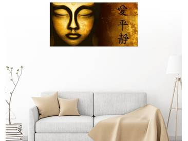 Posterlounge Wandbild - Christine Ganz »Liebe Frieden Gelassenheit«, bunt, Leinwandbild, 180 x 90 cm, bunt