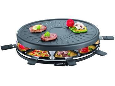 Severin Raclette RG 2681.902, 8 Raclettepfännchen, 1100 W, 1100 Watt, schwarz, schwarz