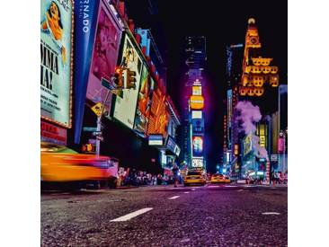Artland Glasbild »Kurt Krause: New York Nachtleben«, Farbig