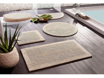 Home affaire Badematte »Kapra« , Höhe 10 mm, beidseitig nutzbar, Bio Baumwolle, natur, 10 mm, natur