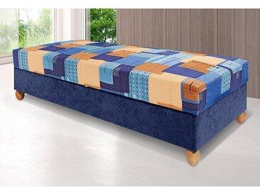 Breckle Polsterliege, blau, Federkern-Festpolster mit 5-Zonen-Komfortpolsterung, blau