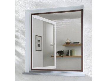 hecht international HECHT Insektenschutz-Fenster »MASTER SLIM«, braun/anthrazit, BxH: 150x160 cm, grau, Fenster, 150 cm x 160 cm, anthrazit