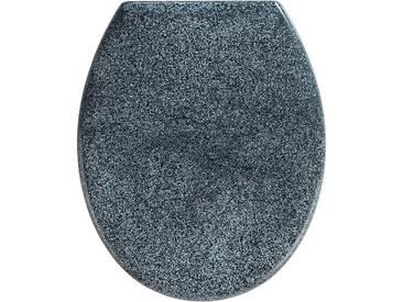 WENKO Premium WC-Sitz Ottana, mit Absenkautomatik, grau, granit-grau