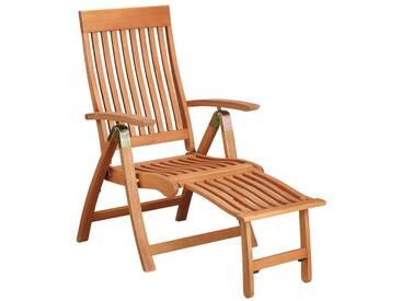 MERXX Relaxsessel »Comodoro«, Eukalyptusholz, verstellbar, klappbar, braun, braun, 1 Stuhl, braun