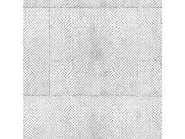 Andiamo ANDIAMO Vinyl-Boden »York Riffelblech silber«, Meterware in 200 cm Breite, silberfarben, 1 x 400 cm, silberfarben