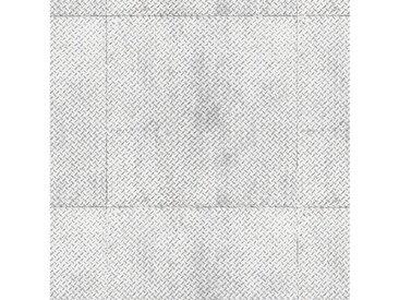 Andiamo ANDIAMO Vinylboden »York«, Breite 200 cm, Meterware, Riffelblech-Optik, silberfarben, 1 x 400 cm, silberfarben