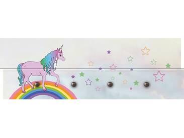 Artland Wandgarderobe »Wen Dy: Einhorn fresst meinen Sternenstaub«, 30 x 90 x 2,8 cm, Farbig