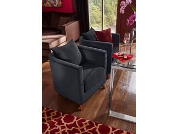 Guido Maria Kretschmer Home&Living GMK Home & Living GMK Speise-Sessel »Vaals« inklusive gemütlichen Rückenkissen mit Logostickerei, schwarz, schwarz
