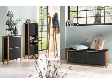 Woodman Schuhbank »Northgate«, schwarz, FSC®-zertifizierter Holzwerkstoff, schwarz-eiche