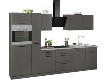 wiho Küchen Küchenzeile »Esbo«, ohne E-Geräte, Breite 310 cm, grau, Anthrazit