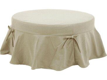 Home affaire Hocker »Liesel«, rund, in 2 Größen, Husse mit Schleife, natur, Durchmesser 45 cm, beige