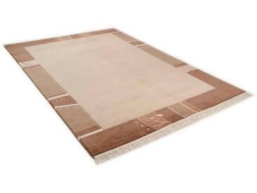 THEKO Teppich »Sierra 12447«, rechteckig, Höhe 14 mm, von Hand geknüpft, natur, 14 mm, beige