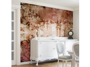 Bilderwelten Vliestapete Quadrat »Old Grunge«, braun, 336x336 cm, Braun