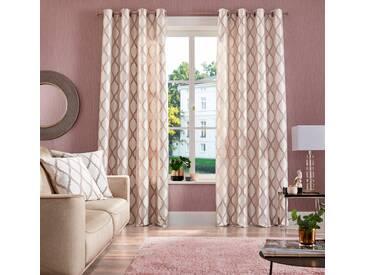 Guido Maria Kretschmer Home&Living Vorhang »Pitea«, Ösen (2 Stück), braun, Ösen, blickdicht, taupe