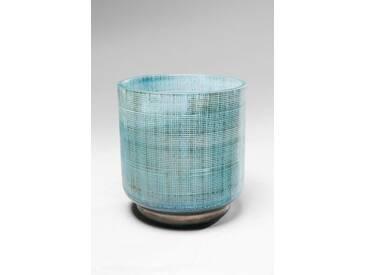 KARE Design Vase »Jute«, blau, Maße (H/Ø): 13/12,5 cm, blau