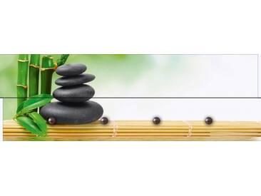 Artland Wandgarderobe »scorpp: Spa Konzept Zen Basaltsteine«, grün, 30 x 90 x 2,8 cm, Grün