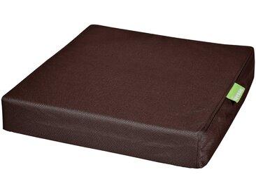 OUTBAG Auflage »Tile square pillow PLUS«, wetterfest und robst, für den Außenbereich, B/L: 45x45 cm, braun, 1 Auflage, dunkelbraun