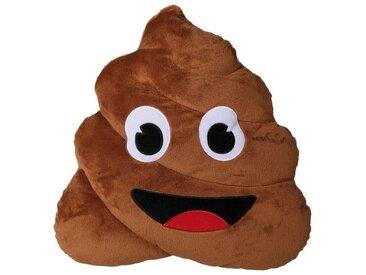 Plüschkissen »Pile of Poo«, braun, braun