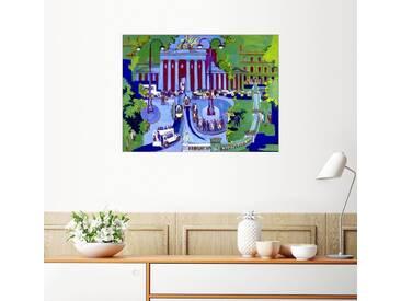 Posterlounge Wandbild - Ernst Ludwig Kirchner »Brandenburger Tor«, bunt, Poster, 80 x 60 cm, bunt