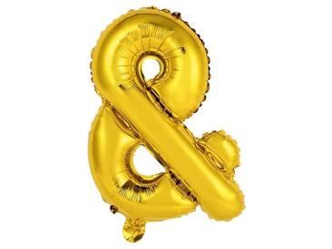 BUTLERS UPPER CLASS »Folienballon &«, gold, Breite 35 x Tiefe 53 x