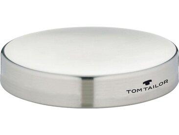 TOM TAILOR Seifenschale »CLASSIC STEEL«, silberfarben, Maße (H/Ø): 2/11 cm, silberfarben