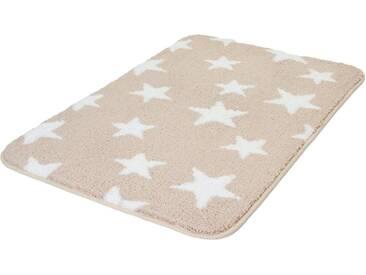 MEUSCH Badematte »Stars« , Höhe 15 mm, rutschhemmend beschichtet, fußbodenheizungsgeeignet, natur, 15 mm, macadamia