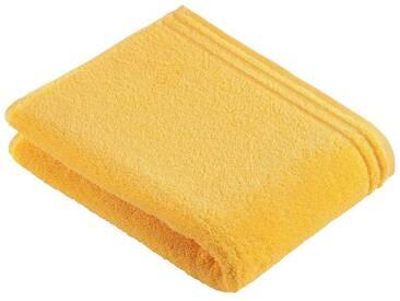 Vossen Handtücher »Calypso«, mit schmaler Bordüre, gelb, Walkfrottee, gelb