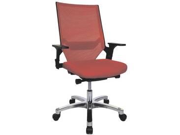 TOPSTAR Bürostuhl ohne Armlehnen »Autosyncron«, rot, rot
