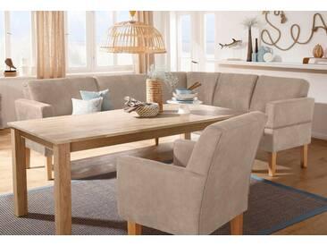 Home affaire Eckbank »Fehmarn«, beige, langer Schenkel links, Luxus-Microfaser