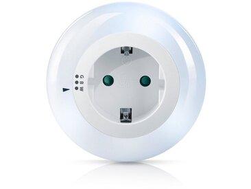 Brandson LED Nachtlicht mit Zwischenstecker & auswählbaren Farben »Nachtlampe - Weiß/Grün/Blau«, weiß, weiß