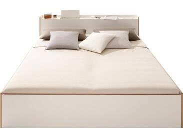 Müller Bett »NOOK«, in vier Breiten, weiß, ohne Matratze mit Birkenkante, weiß