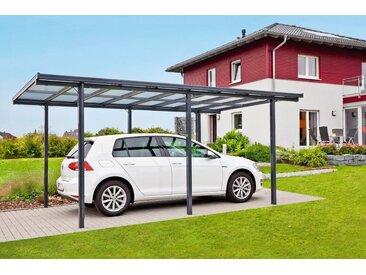 Beckmann Einzelcarport Aluminium, BxT: 311x496 cm, grau, anthrazit