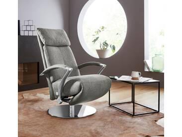 W.SCHILLIG Relaxsessel »kronos« mit Drehteller, grau, steel S22