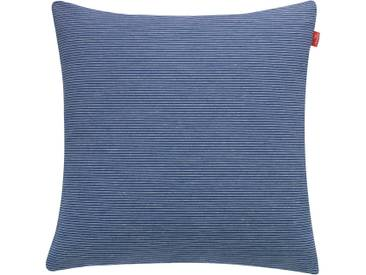 Esprit Kissenhülle »Stockholm Needlestripe«, blau, Polyester, Blickdichter Stoff, blue