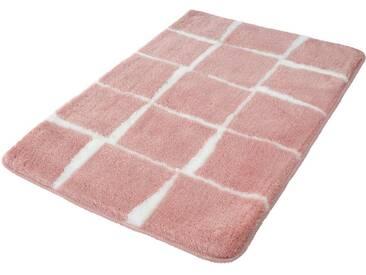 Kleine Wolke Badematte »Carat« , Höhe 20 mm, rutschhemmend beschichtet, fußbodenheizungsgeeignet, orange, 20 mm, nelke