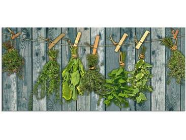Artland Küchenrückwände »Team 5: Kräuter mit Holzoptik«, grün, 50x110 cm, Grün