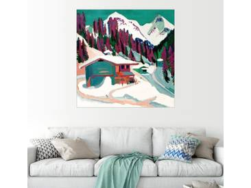 Posterlounge Wandbild - Ernst Ludwig Kirchner »Wildboden im Schnee«, natur, Leinwandbild, 30 x 30 cm, naturfarben