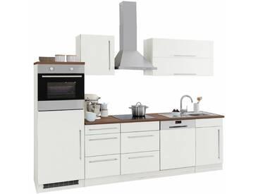 HELD MÖBEL Küchenzeile »Samos«, ohne E-Geräte, Breite 280 cm, weiß, weiß