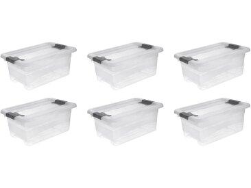 keeeper Aufbewahrungsbox »cornelia« (Set, 6 Stück), weiß, transparent