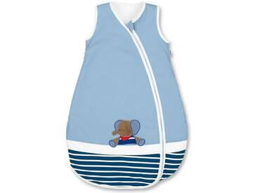 Sterntaler® Babyschlafsack »Erwin« (1 tlg), blau, verlängerte Reißverschlusssführung