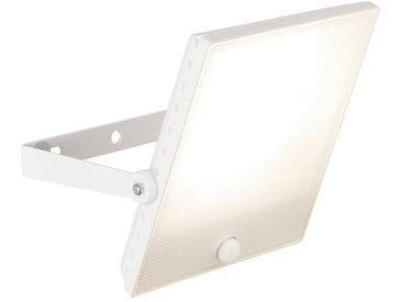 Brilliant Leuchten Dryden LED Außenwandstrahler 30cm Bewegungsmelder weiß matt, weiß, weiß matt
