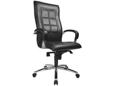 TOPSTAR Leder-Chefsessel mit Armlehnen »Chairman 45«, schwarz, schwarz