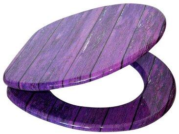 Sanilo SANILO WC-Sitz »Purple Wall«, lila, lila/holzoptik