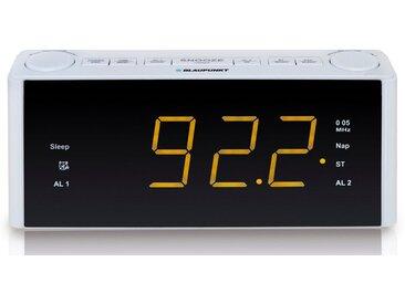 Blaupunkt Wecker, Digitale Wecker, Uhrenradio, 2 Weckzeiten »CLR-180«, weiß, weiß